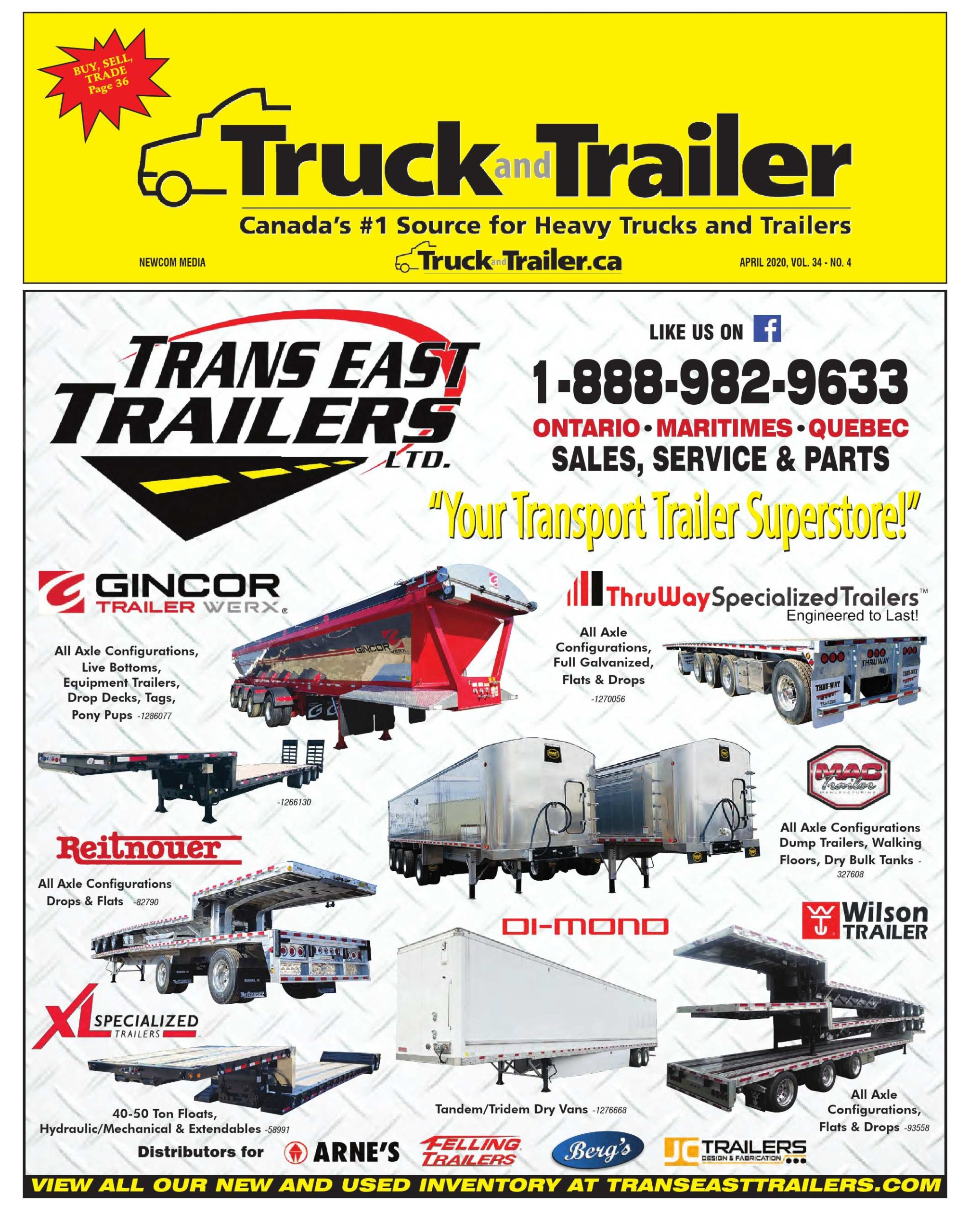 Truck and Trailer – 1 avril 2020