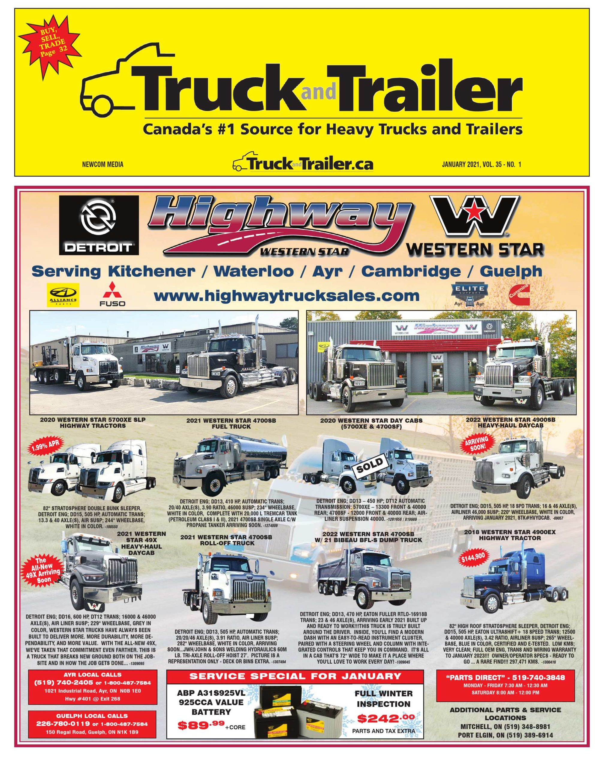 Truck and Trailer – 1 janvier 2021