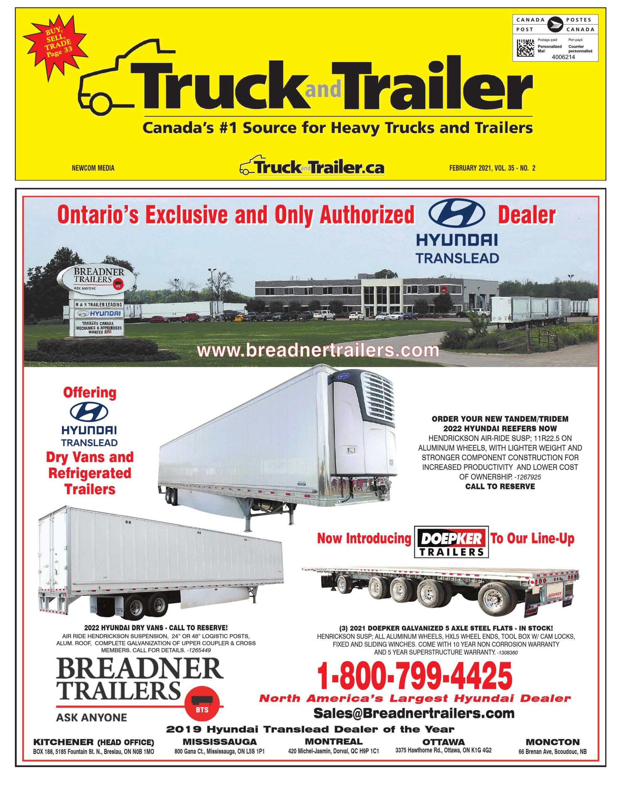 Truck and Trailer – 1 février 2021