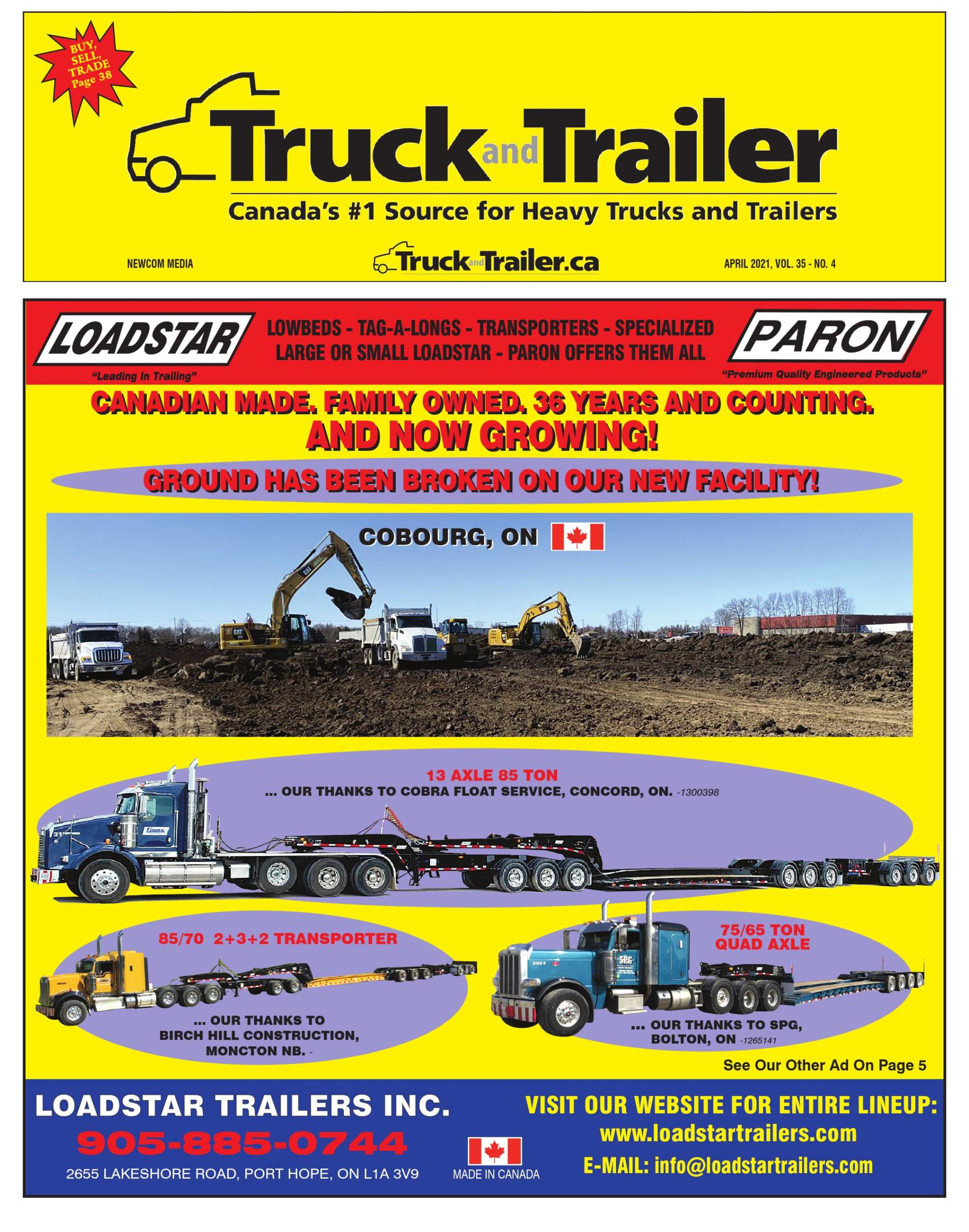 Truck and Trailer – 1 avril 2021