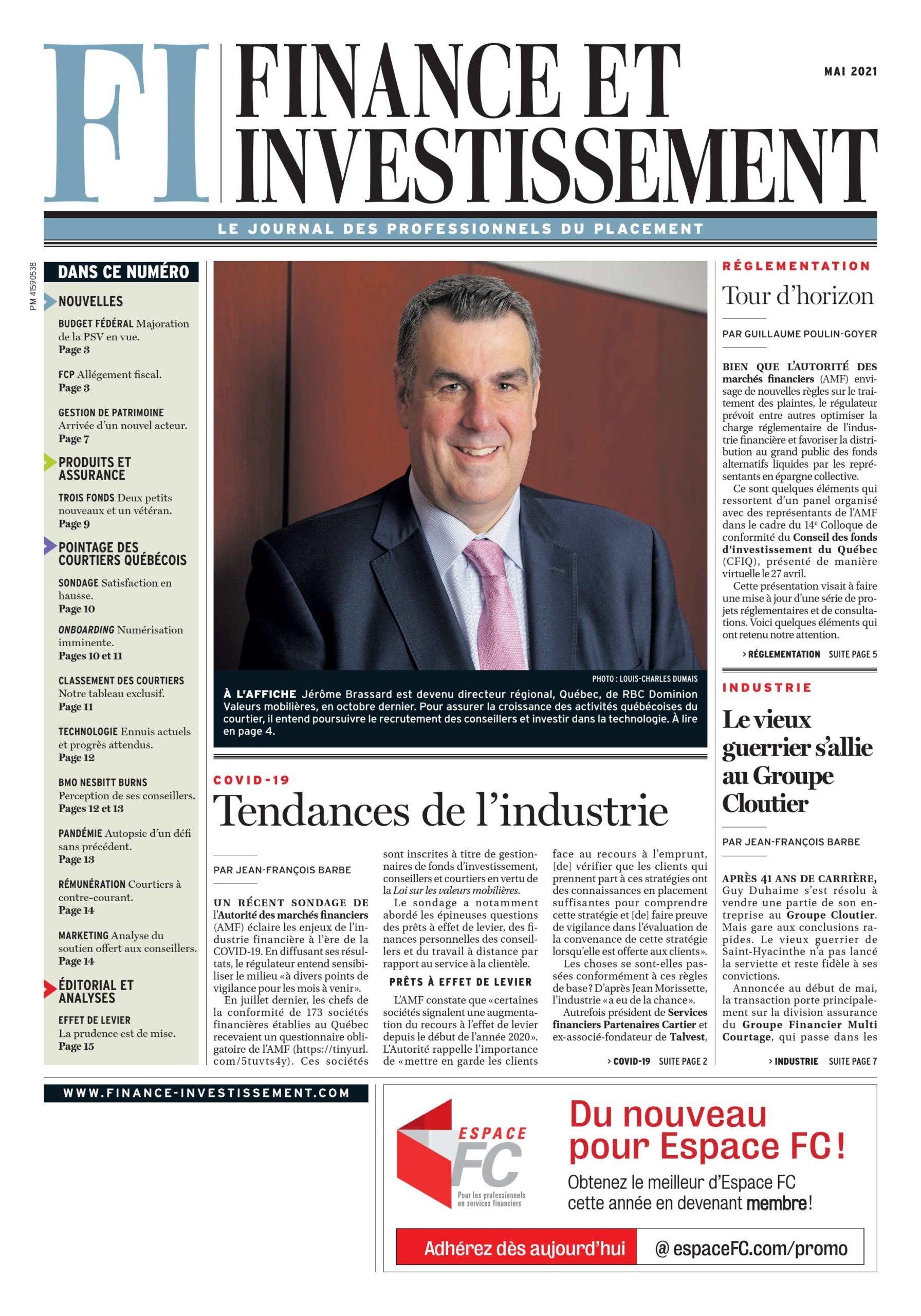 Finance et Investissement – 1 mai 2021