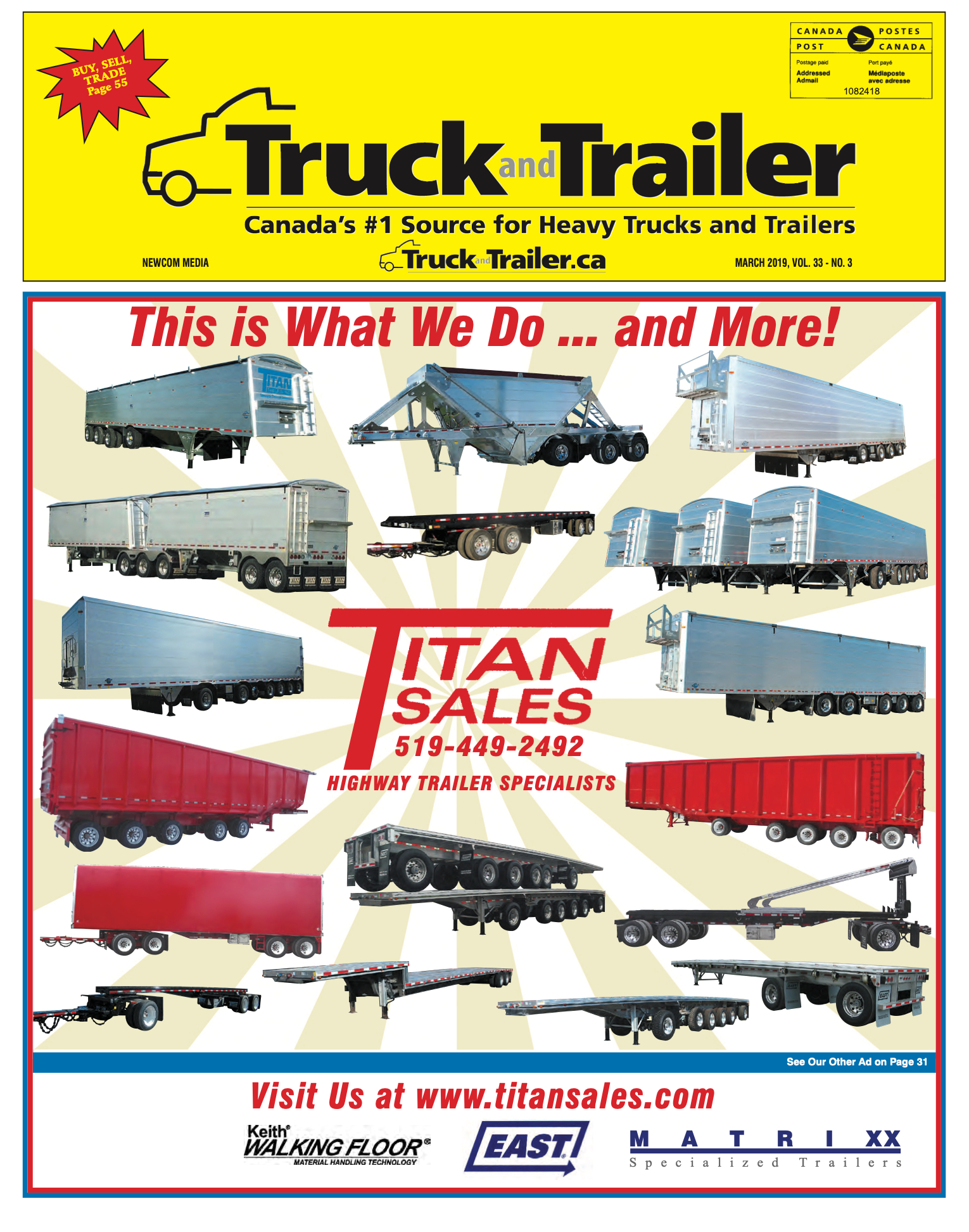 Truck and Trailer – 1 mars 2019