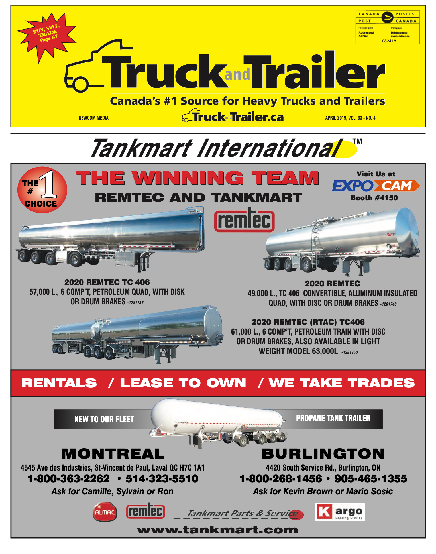 Truck and Trailer – 1 avril 2019