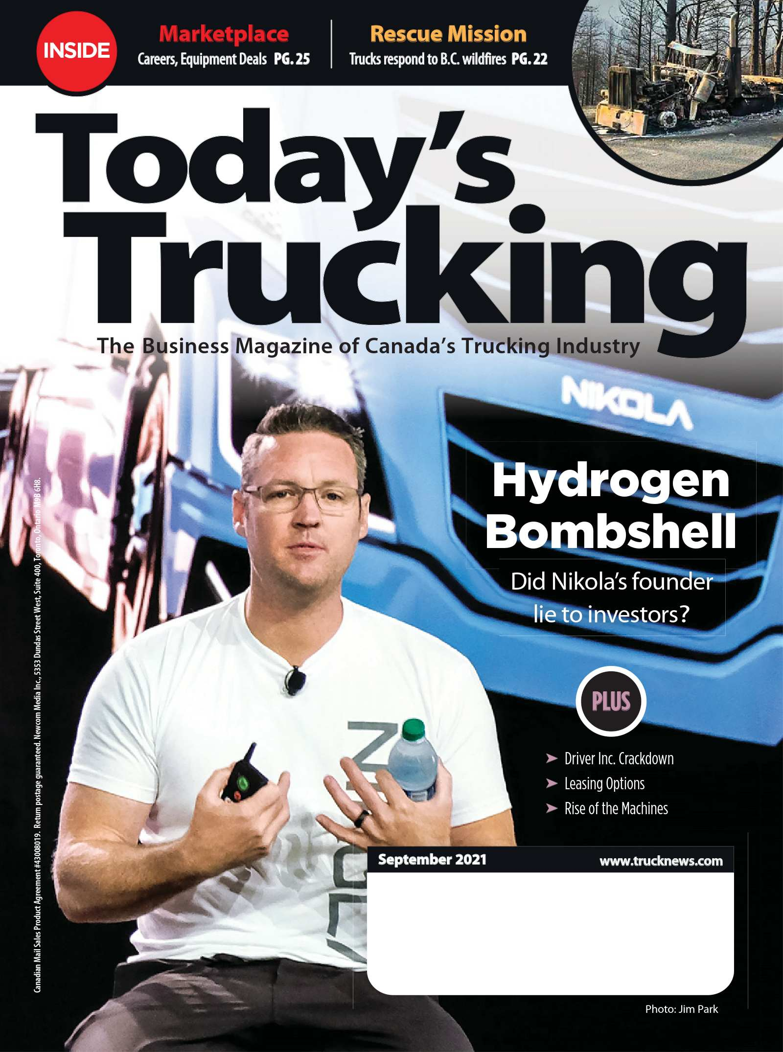 Today's Trucking – 1 septembre 2021