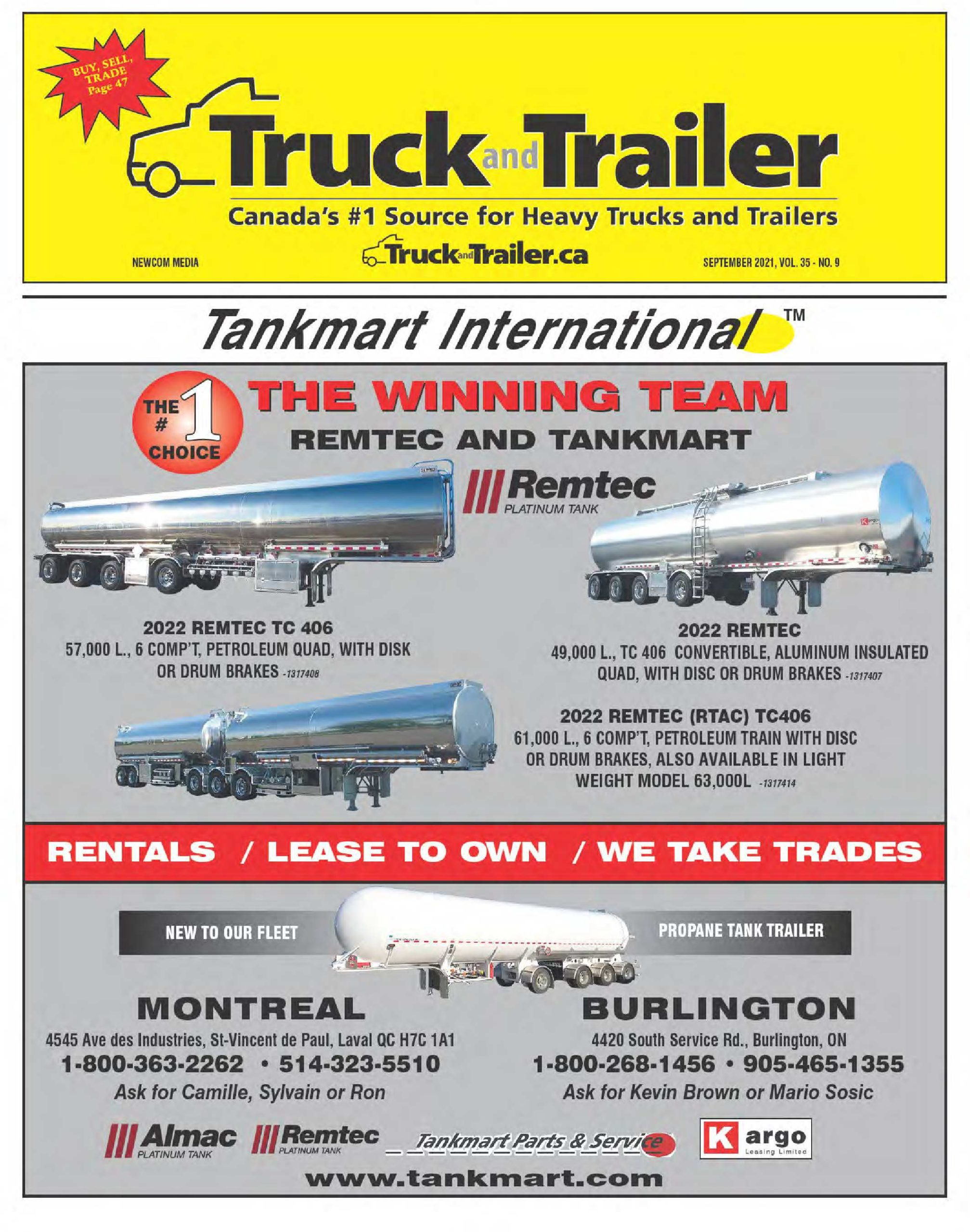 Truck and Trailer – 1 septembre 2021